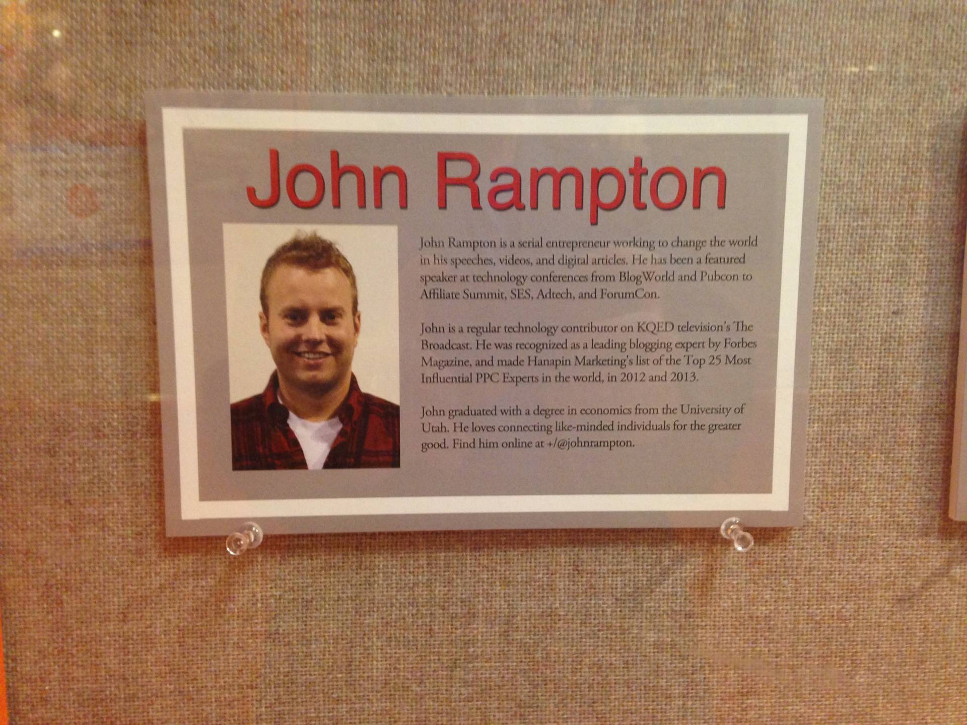 John Rampton at Academy of Art University