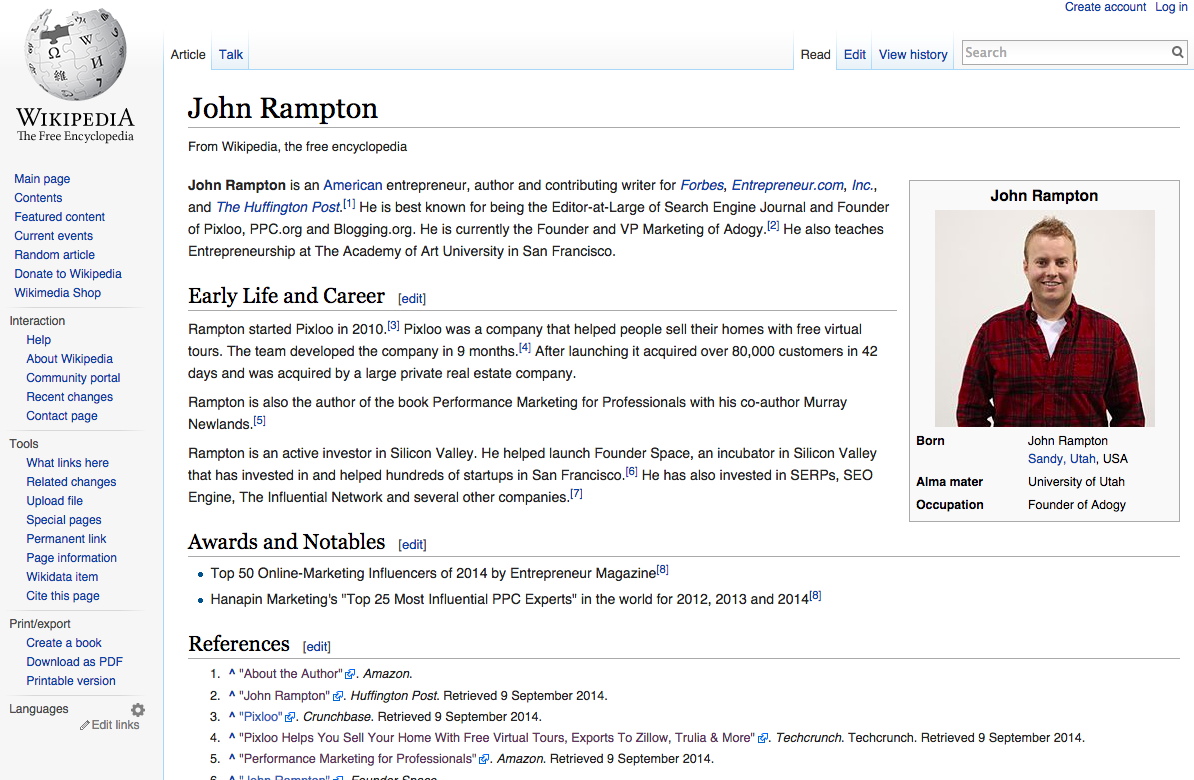 wikipedia - john rampton