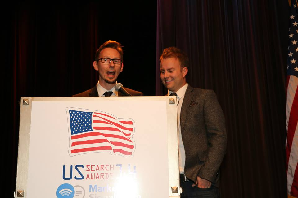Marcus Tober and John Rampton US Search Awards