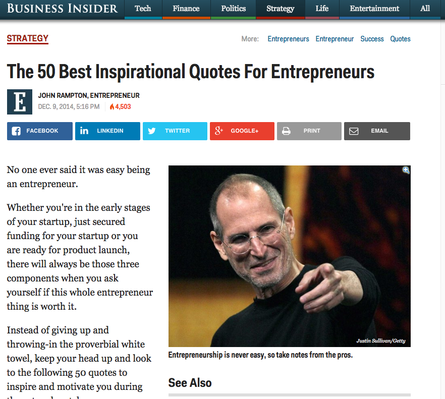 John Rampton - The 50 Best Inspirational Quotes For Entrepreneurs