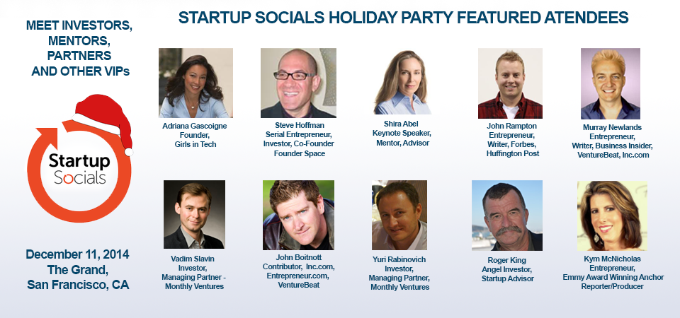 startup socials holiday party with john rampton