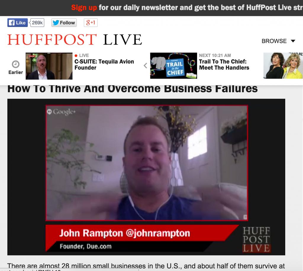 John Rampton Huff Post Live