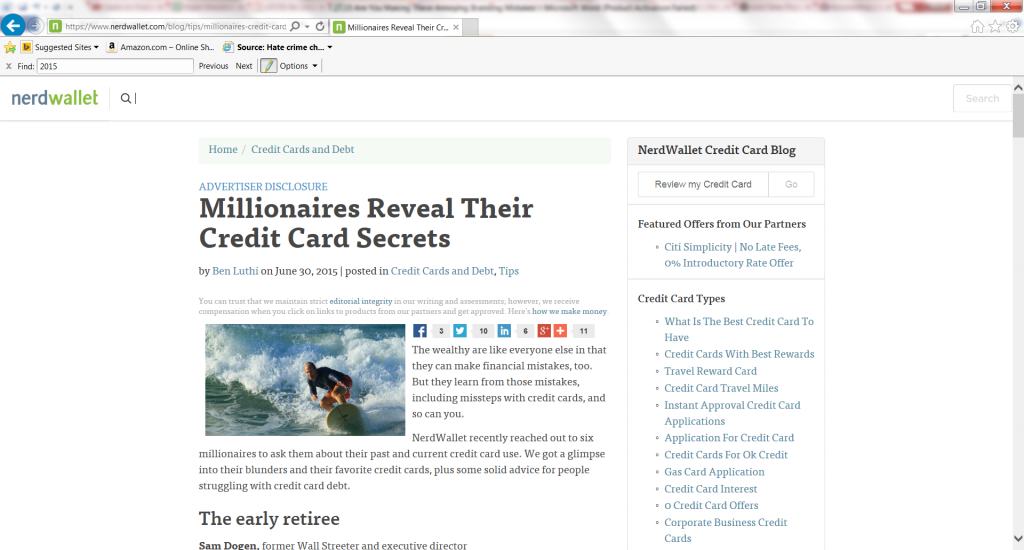 Millionaires Reveal Their Credit Card Secrets