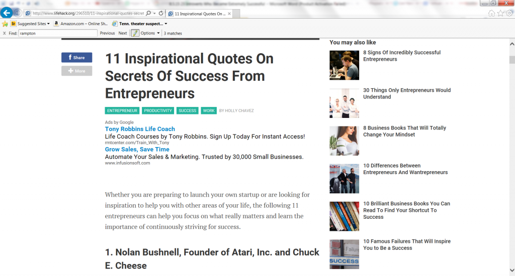 11 Inspirational Quotes on Secrets of Success from Entrepreneurs-with John Rampton