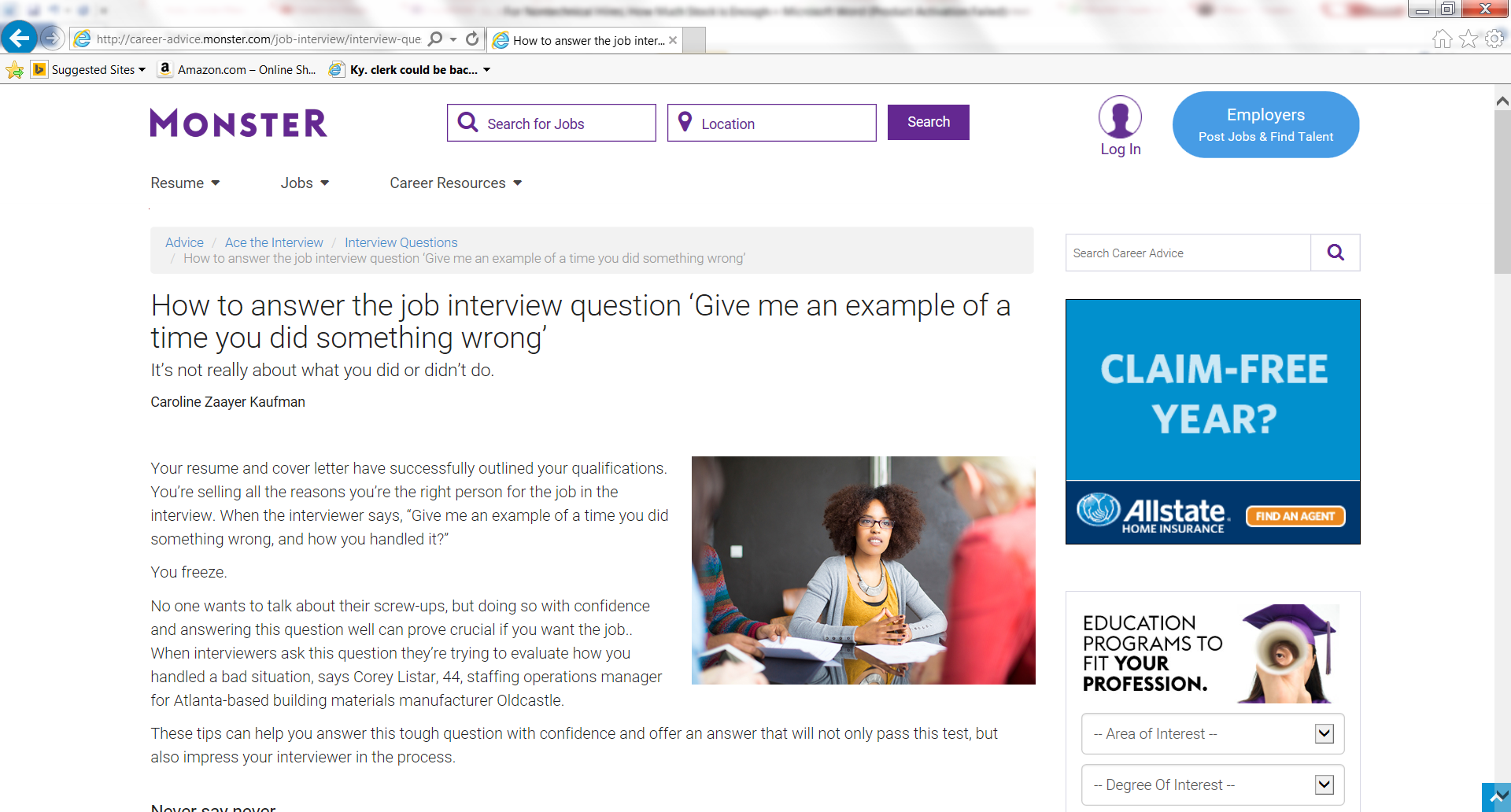 How To Answer The Job Interview Question Give Me An Example Of A