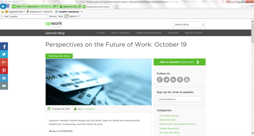 Perspectives on the Future of Work October 19-with John Rampton