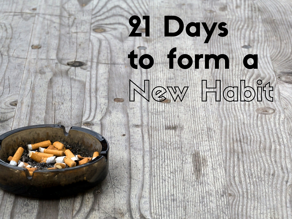 21 days to form a habit
