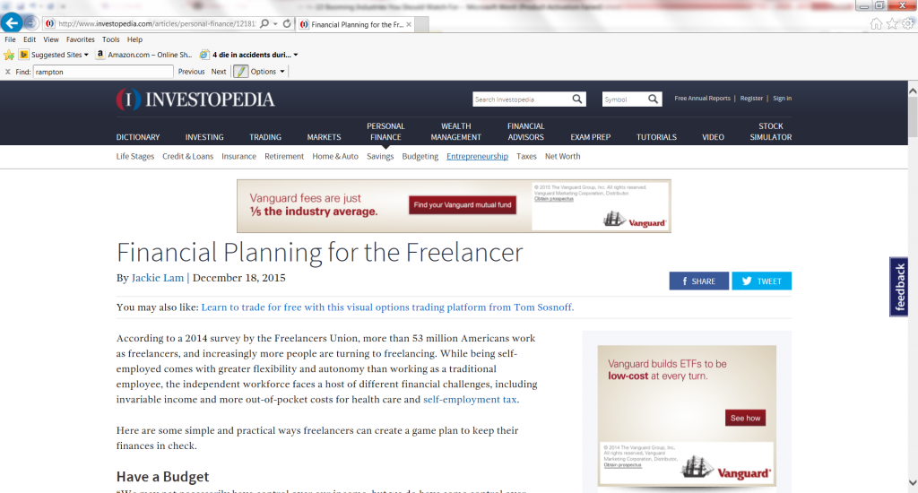 Financial Planning for the Freelancer-with John Rampton