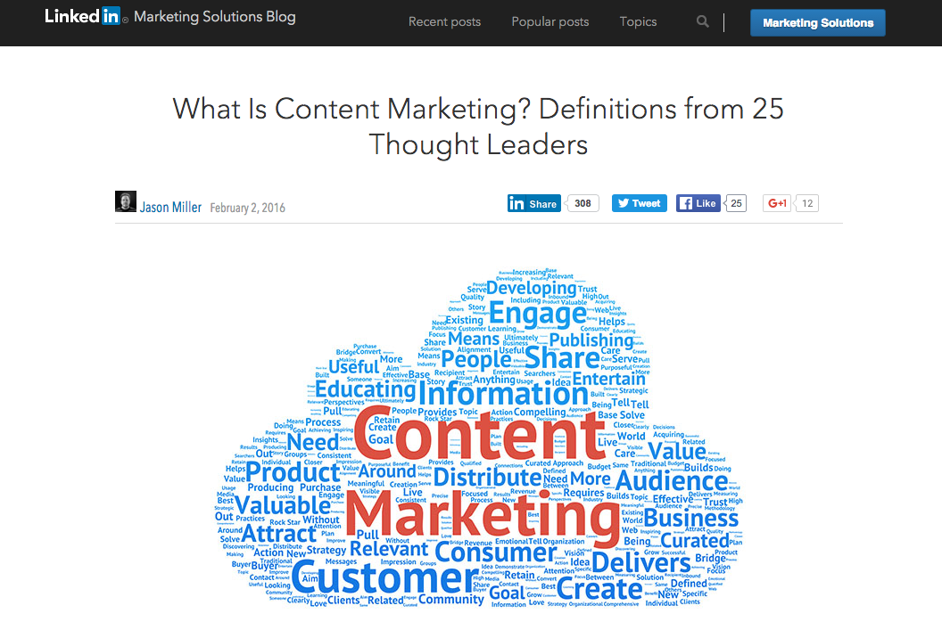 Definition content marketing