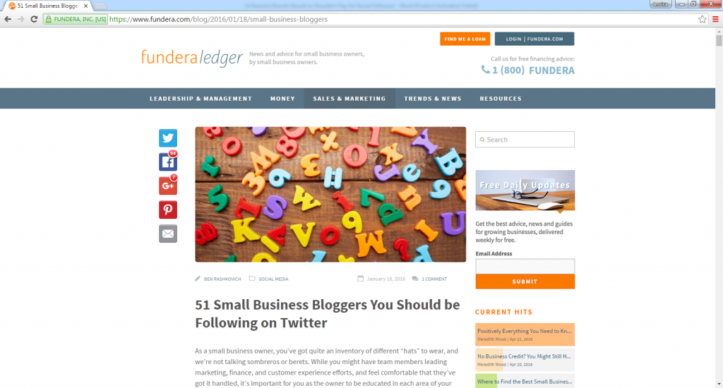 51 Small Business Bloggers You Should be Following on Twitter-with John Rampton