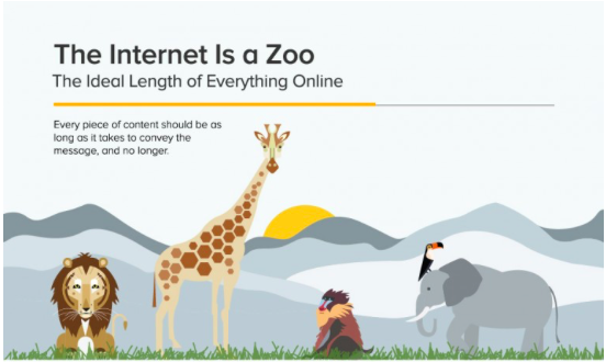 Ideal length of content infographic