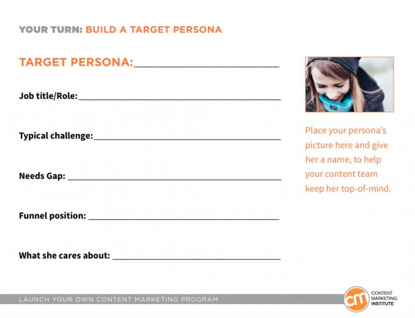 Content marketing personas
